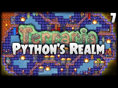 Terraria Let's Play (1.3.5)   A Base That's... OUT OF THIS WORLD!   Python's Realm [S2 - Episode 7]