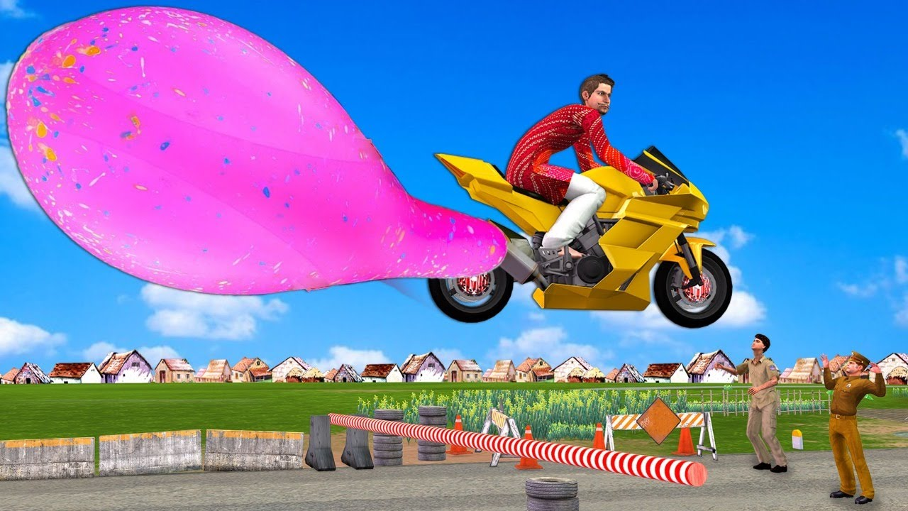 जादुई बैलोन मोटर बाइक Magical Ballon Motor Bike Comedy Video हिंदी कहानि Hindi Kahaniya Funny Story