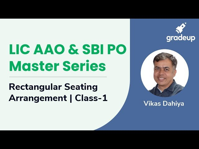 LIC AAO & SBI PO Master Series | Rectangular Seating Arrangement Puzzle | Class-1