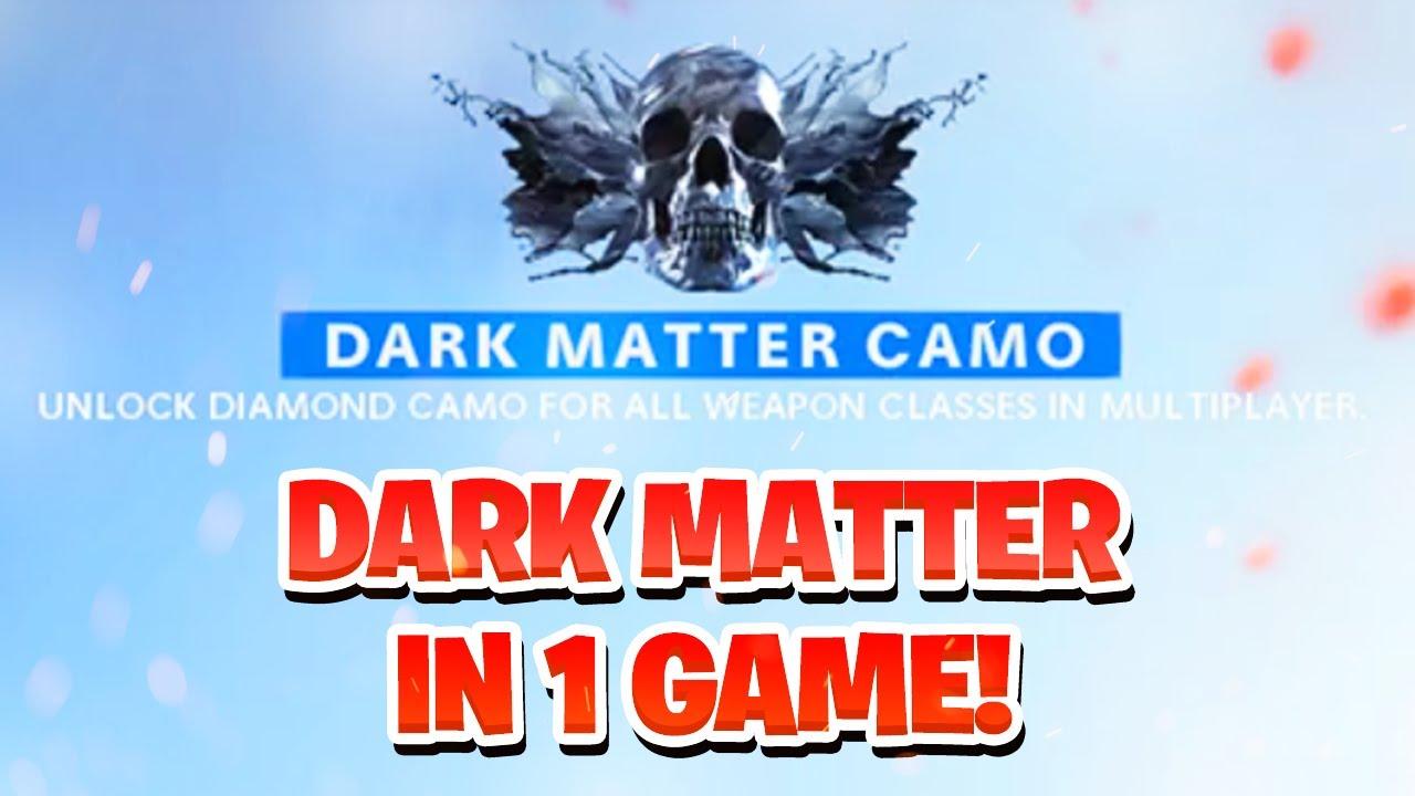 UNLOCKING DARK MATTER IN 1 GAME! DARK MATTER ULTRA CAMO UNLOCKED IN 1 MATCH! (DM Ultra Camo)