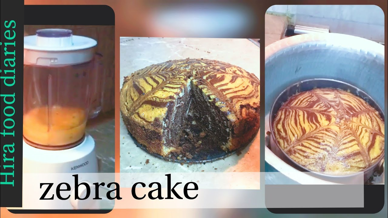 Soft and moist easy zebra cake recipe | marble cake without oven | No beater cake