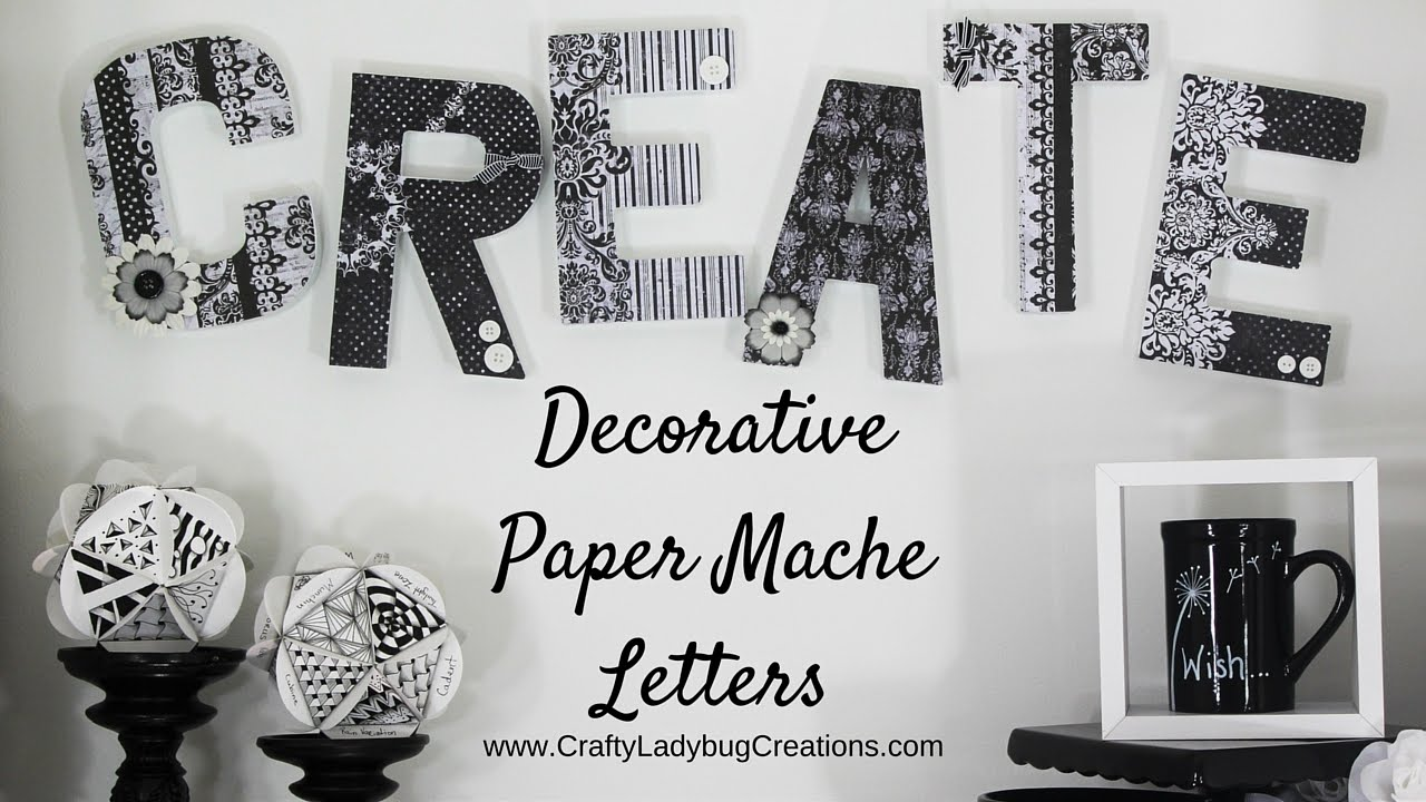 Mixed Media 8 inch Letter ~ Paper Mache ~ Your Choice of Stand Up Letter ~ DIY Craft ~ Ready to Embellish with Paint Glitter