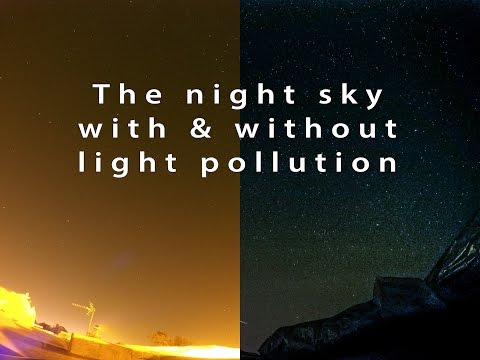 Light Pollution Timelapse Demonstration