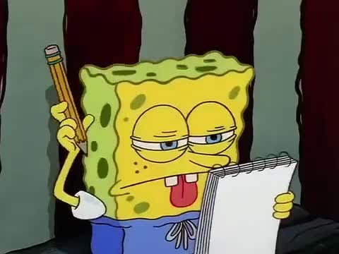 Spongebob Thinking