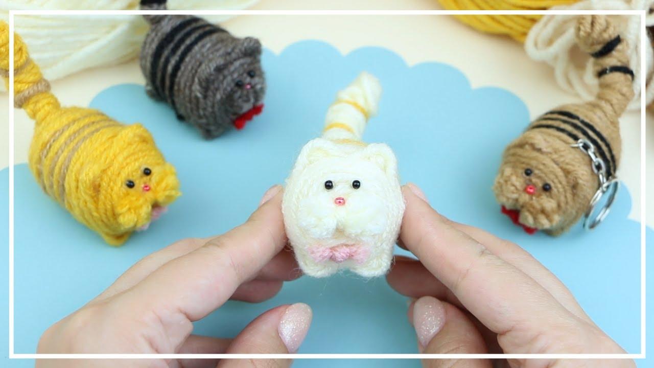 Маленький толстый Котик из Ниток для вязания 🐱🧶🐱 Cute Fat Cat of Yarn - Making Idea 🌟 DIY NataliDoma