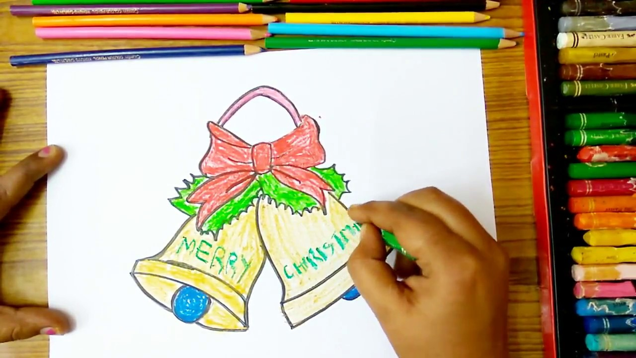 how to draw christmas bells how to draw jingle bells drawing step