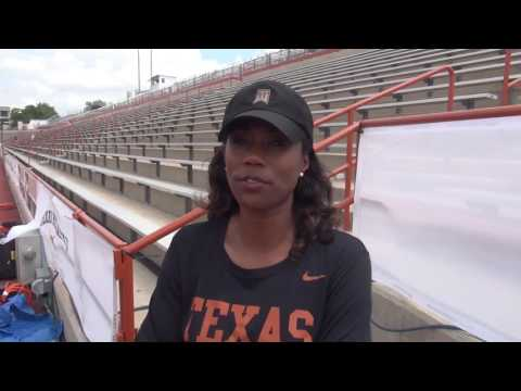 Texas sprint coach Tonja Buford-Bailey on coaching her young pros and current Longhorns