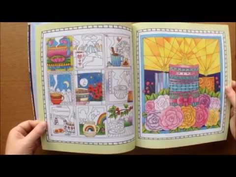 Colour Me To Sleep by Lacy Mucklow and Angela Porter Colouring Book Flipthough