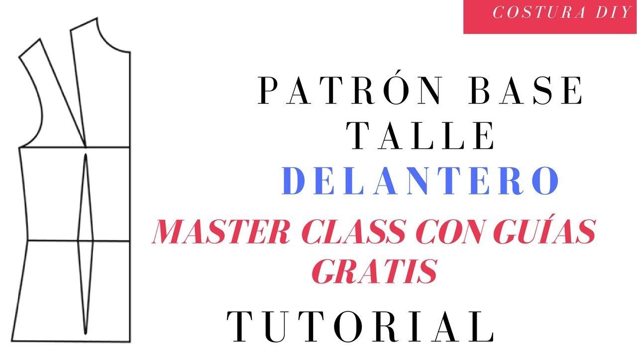Cómo hacer patrón base Delantero Clase de costura para principiante ...