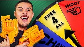 NERF Hangman Roulette Challenge! [Ep. 9]