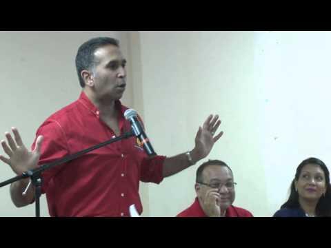 PNM, Rowley in Marabella - Feb. 12. 2014.-  Trinidad & Tobago