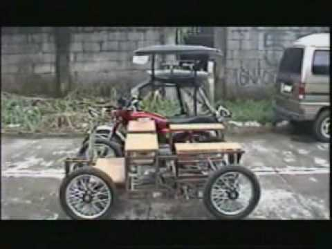 the hoy pinoy mini car side by side size comparison with tricycle 1 of 3 by yootoober2009. Black Bedroom Furniture Sets. Home Design Ideas