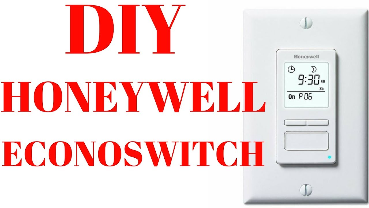 DIY Honeywell Econo Switch timer full installation tutorial program on honeywell light switches, honeywell rpls730b manual, honeywell rpls740b1008, honeywell econoswitch,