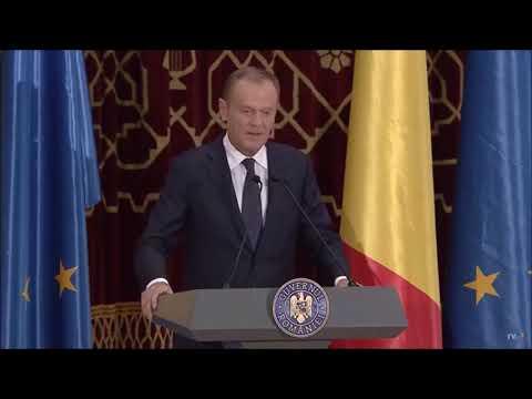 STIRIPESURSE.RO: Donald Tusk, președintele Consiliului European, discurs în limba română