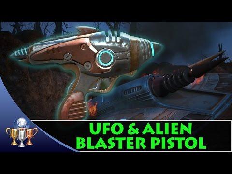 Fallout 4 UFO Crash Site & Alien Blaster Pistol Easter Egg and Unique Weapon
