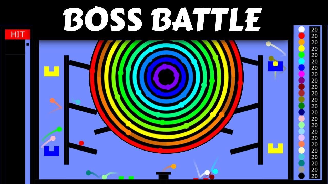 Marble Race Boss Battle : 24 Marbles VS 1 BOSS