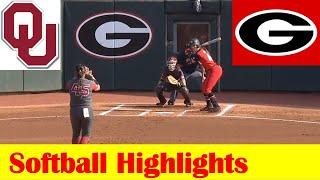 #1 Oklahoma vs #22 Georgia Softball Game Highlights 4 20 2021