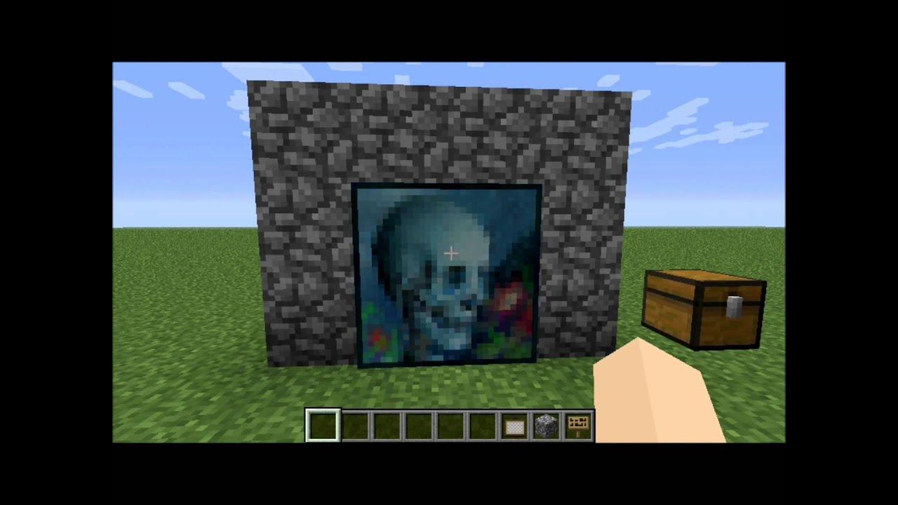 Minecraft Tutorial salapuerta secreta con cuadros y