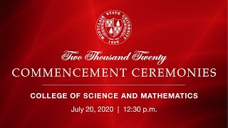 Montclair State University 2020 Commencement Ceremonies: College of Science and Mathematics