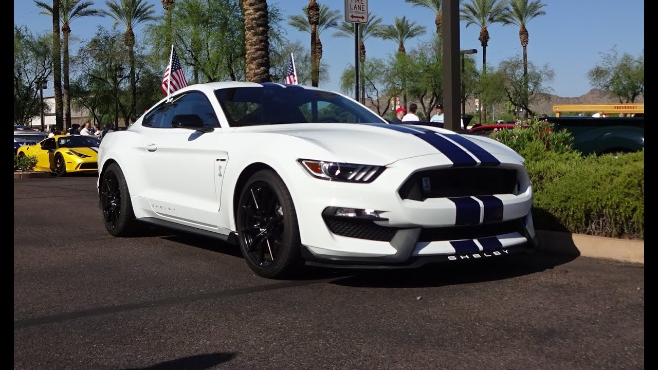 2016 ford mustang shelby gt 350 oxford white paint engine start on my car story with lou costabile