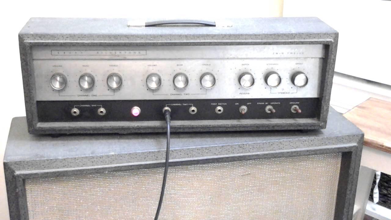 SEARS SILVERTONE TWIN TWELVE Vintage Rare Guitar Amplifier TUBE amp ...