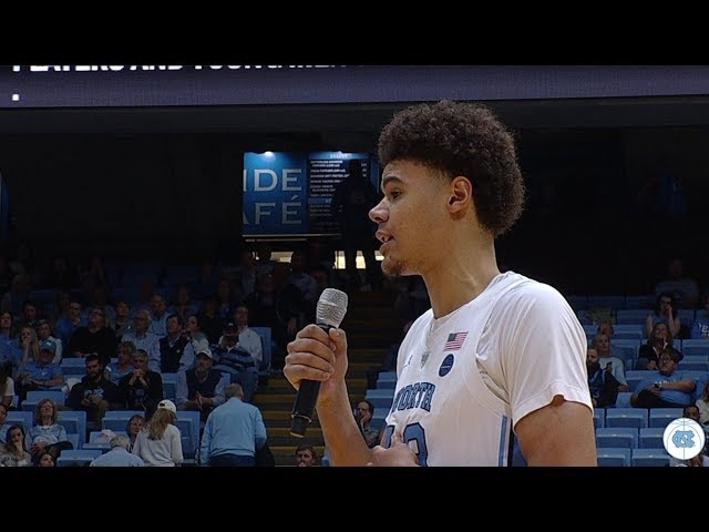 UNC Mens Basketball: Cameron Johnsons Senior Night Speech