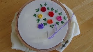 Repeat youtube video Hand Embroidery: Bullion Knot Stitch
