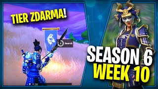 Where is the FIFTH FREE BANNER for the SEASON 6 (Semaine 10)-Fortnite Battle Royale CZ/SK