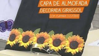 Capa de Almofada Decorada Girassol com Isamara Custódio