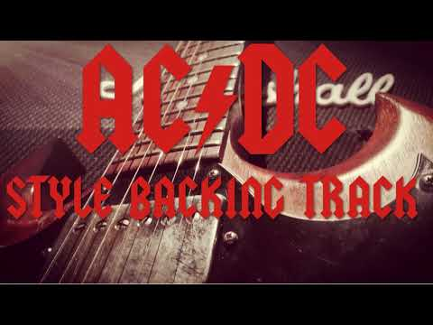 ACDC Style Backing Track in A