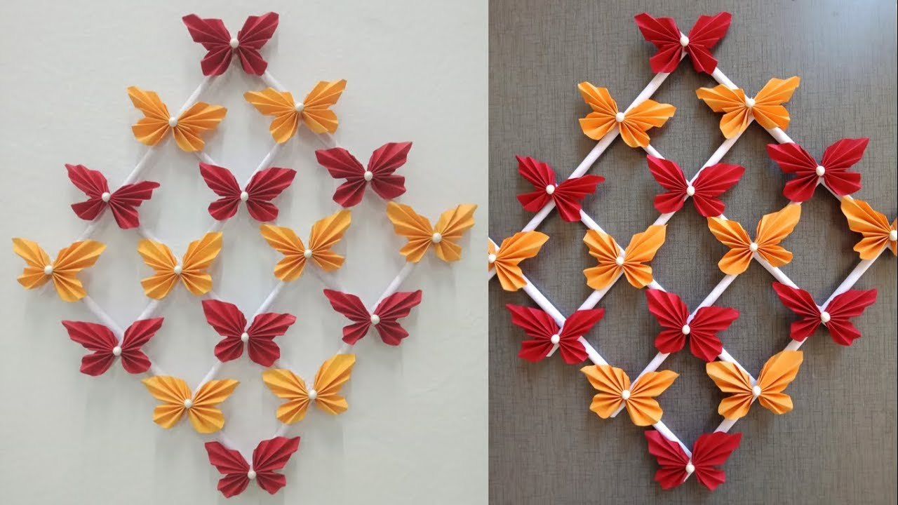 Paper Butterfly Wall Hanging 2 Diy Easy Hanging Paper Butterfly