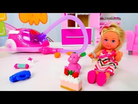 Кто разгромил ДОМ Барби? Штеффи одна дома 💒 Уборка с Кеном и #Штеффи 🛋 Мультик #Барби