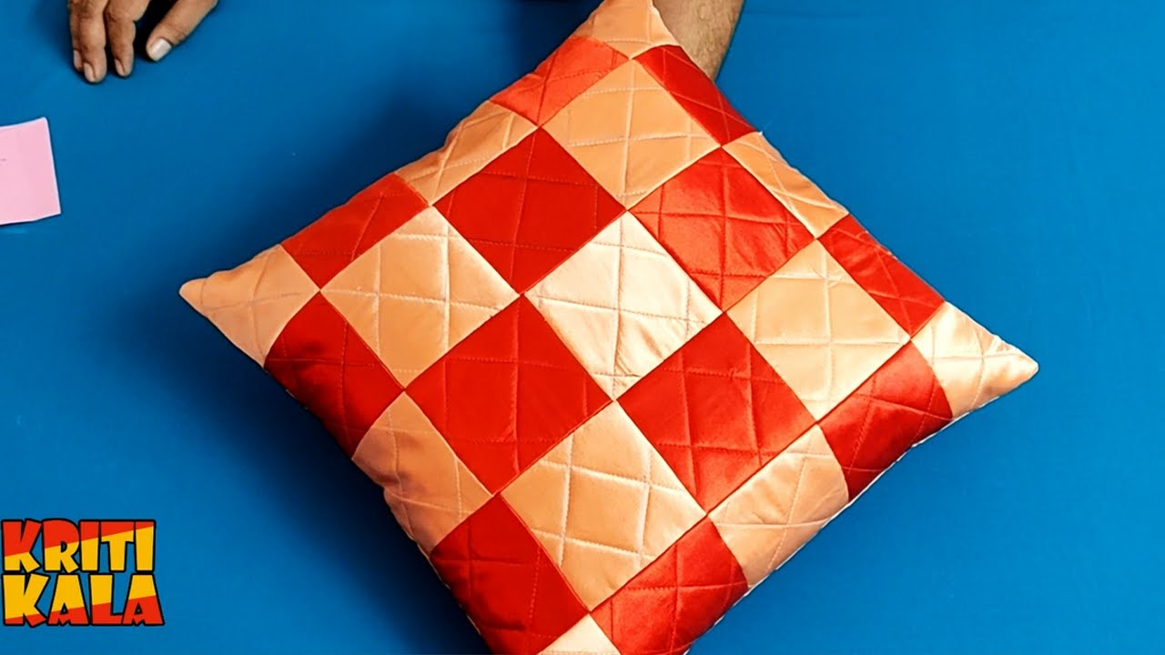 DIY Cushion Cover & Pillow Cover Cutting and Stitching || Beautiful Cushion Cover and Pillow Cover