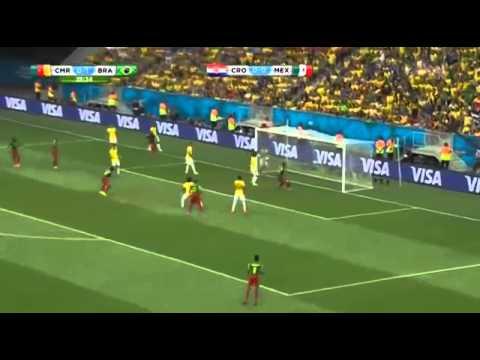 Brazil vs Cameroon 4 1    All Goals