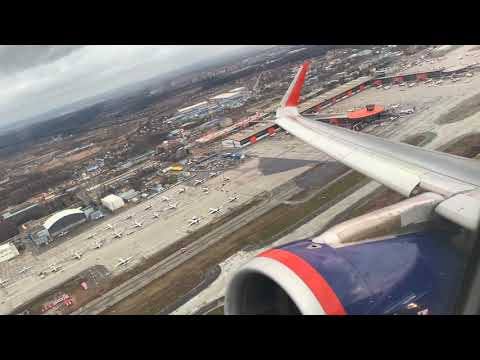 Турбулентный взлёт A321 Аэрофлота из Шереметьево