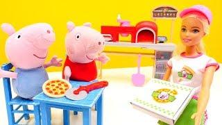 Дитячі іграшки - Свинка Пеппа нова серія - В кафе