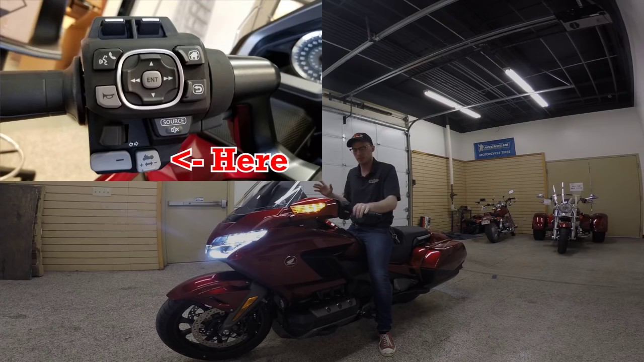 How To Use Walking Reverse Mode On The 2018 Goldwing Heartland