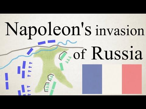 Napoleon's invasion of Russia visualized