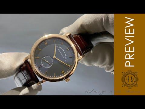 A. Lange \u0026 Sohne Saxonia Manual Wind Grey Dial 215.033 Wristwatch
