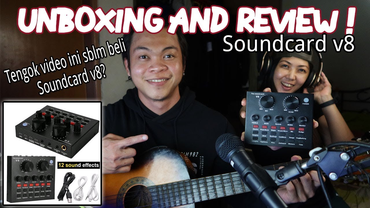 Unboxing and Review Soundcard v8 dari Shopee Malaysia.