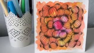 How to draw Garlic Clove Tangle Pattern Lesson 4
