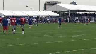 Giants rookie TE Evan Engram in practice