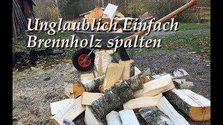 Unglaublich einfacher Trick zum Brennholz spalten