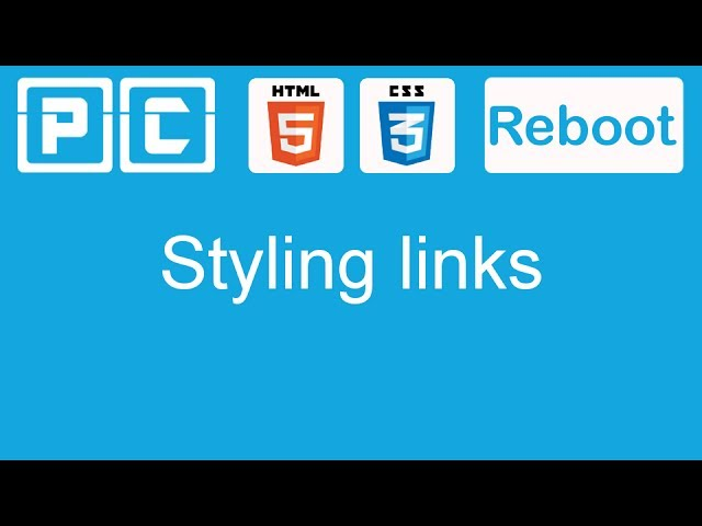 HTML5 and CSS3 beginners tutorial 27 - styling links
