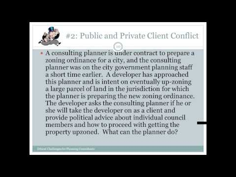 Ethical Challenges for Planning Consultants