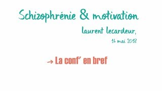 Schizophrénie et Motivation, Laurent Lecardeur