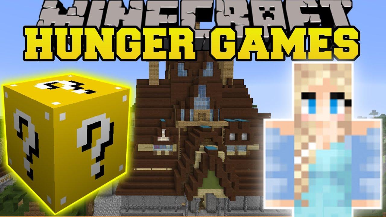 Minecraft frozen hunger games lucky block mod modd for Mine craft hunger games