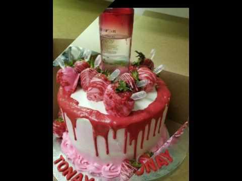 Red Berry Ciroc Cake