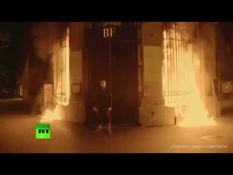 'Revival of revolutionary France' Russian shock artist Pavlensky sets bank in Paris ablaze