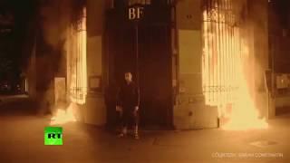'Revival of revolutionary France' Russian shock artist Pavlensky sets bank in Paris ablaze